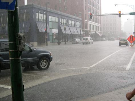 Record rainfall total in Chicagoland for July: 9.75 inches...and counting...